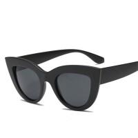 2018 New Cat Eye Women Sunglasses Tinted Color Lens Men Vintage Shaped Sun Glasses Female Eyewear Blue Sunglasses Brand Designer