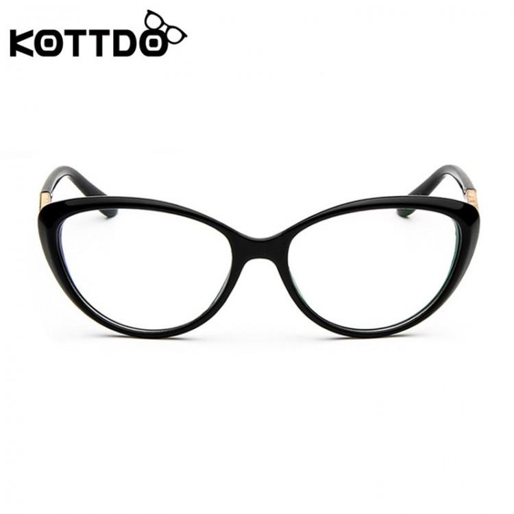 6636c462634 KOTTDO Women Retro Cat Eye Eyeglasses Brand Spectacles Glasses Optical  Spectacle Frame Vintage Computer Reading Glasses oculosGlasses Frames