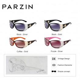 4a72f9262 PARZIN Luxury Brand Vintage Sunglasses Women Polarized Ladies Sun Glasses  For Women Hollow Lace Feminine Glasses